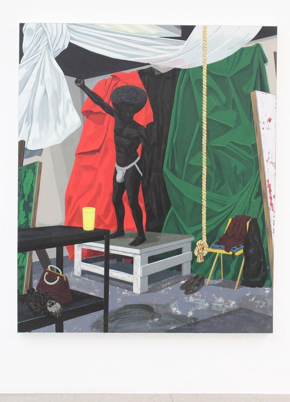 Kerry James Marshall, The Academy, 2012, Acryl auf Leinwand, 185 x 155 cm, Foto: Alexandra Matzner.