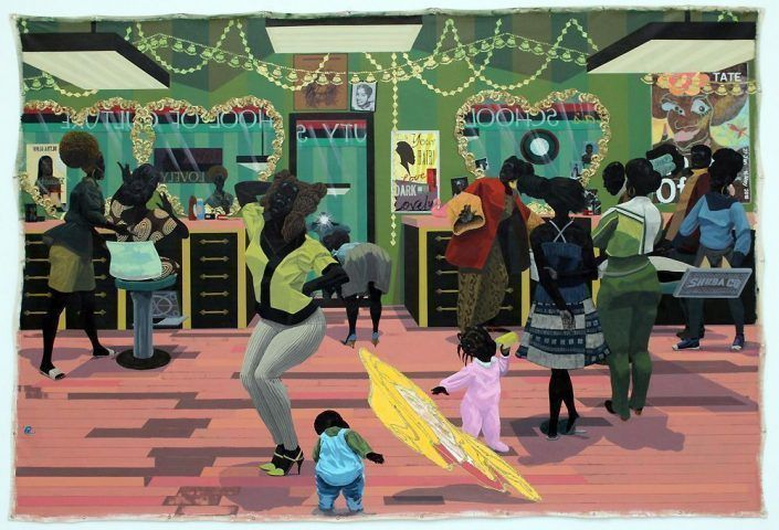 Kerry James Marshall, School of Beauty, School of Culture, gesamt, 2012, Acryl auf Leinwand, 274 x 401 cm (Collection of the Birmingham Museum of Art, Alabama), Foto: Alexandra Matzner.