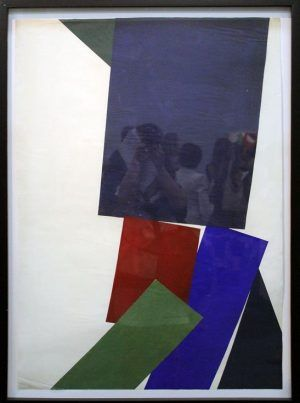 Kiki Kogelnik, Untiteled, 1955, Collage, 101 x 68 cm © Kiki Kogelnik Foundation Vienna/New York, Foto: Alexandra Matzner.