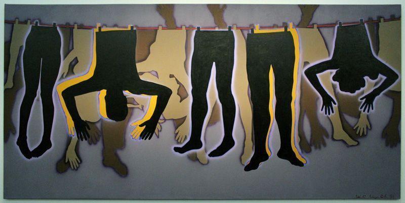 Kiki Kogelnik, People, 1971, Öl und Acryl auf Leinwand, 174 x 363 cm © Kiki Kogelnik Foundation Vienna/New York, Foto: Alexandra Matzner.