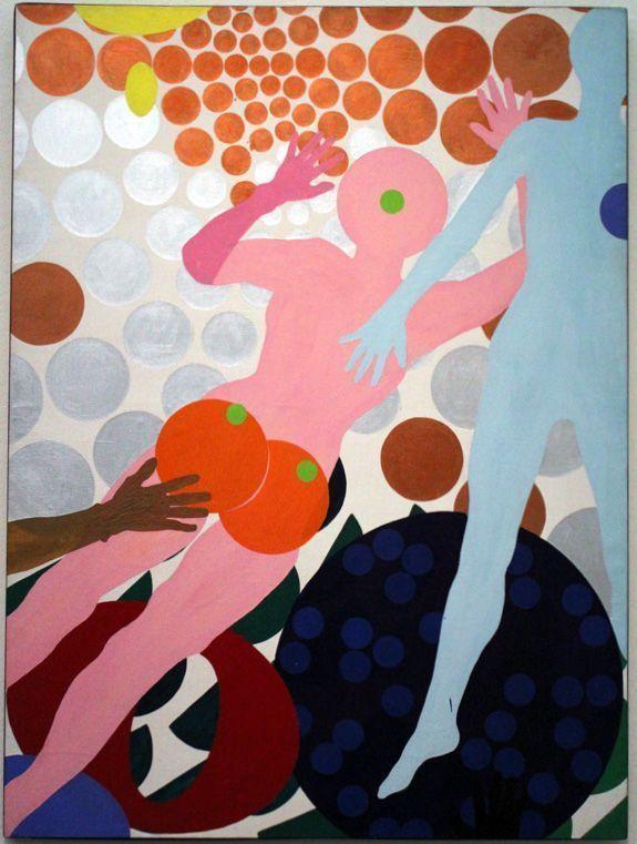 Kiki Kogelnik, Outer Space, 1964, Öl und Acryl auf Leinwand, 182 x 137 cm © Kiki Kogelnik Foundation Vienna/New York, Foto: Alexandra Matzner.