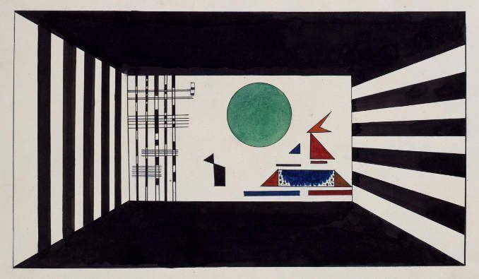 Wassily Kandinsky, Bilder einer Ausstellung: Bild II, Gnomus, 1928, Gouache, Aquarell und Tusche auf Papier, 38,5 x 56,5 cm, Theaterwissenschaftliche Sammlung, Universität zu Köln.