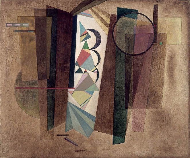 Wassily Kandinsky, Entwicklung in Braun, 1933, Öl auf Leinwand, 101 x 120,5 cm, Collections du fonds Kandinsky du Musée National d'Art Moderne Centre Pompidou, Paris, Achat en 1959.