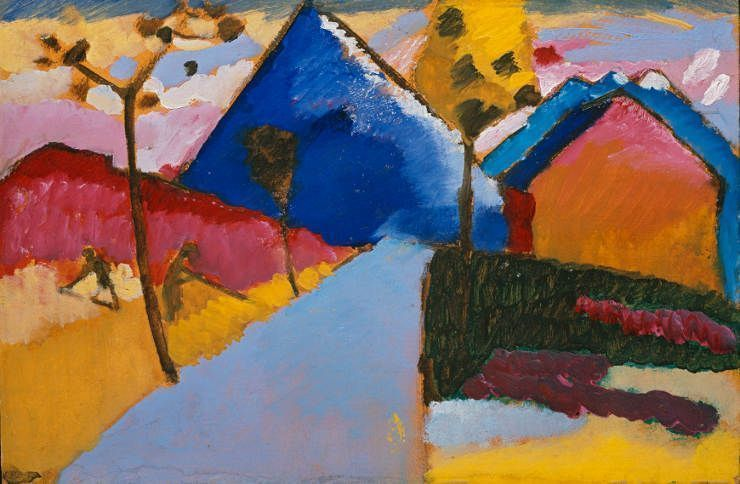 wassily kandinsky kochel gerade strae 1909 l auf karton 33 x - Wassily Kandinsky Lebenslauf