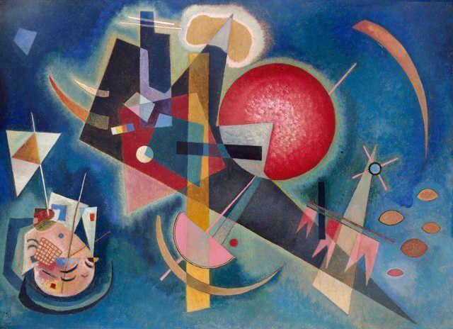 Wassily Kandinsky, Im Blau, 1925, 80 x 110 cm, Kunstsammlung Nordrhein-Westfalen Düsseldorf, erworben 1964 aus einer Spende des Westdeutschen Rundfunks, Foto: Walter Klein, Düsseldorf.