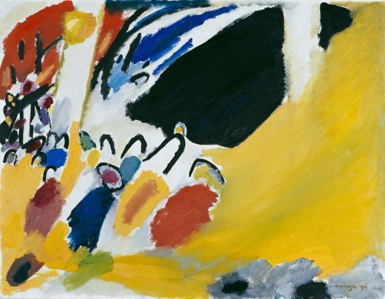 Wassily Kandinsky, Impression III (Konzert), 1911, 77,5 x 100 cm, Städtische Galerie im Lenbachhaus und Kunstbau, München.