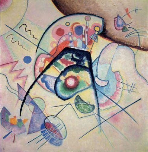 Wassily Kandinsky,Rückblick, 1924, Öl auf Leinwand, 98 x 94 cm, Kunstmuseum Bern, Schenkung Nina Kandinsky, Neuilly-sur-Seine.