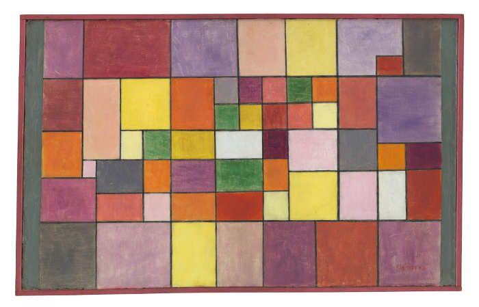 Paul Klee, Harmonie der nördlichen Flora, 1927, 144, Ölfarbe auf Grundierung auf Karton auf Sperrholz, originale Rahmenleisten, Zentrum Paul Klee, Bern, Schenkung Livia Klee.