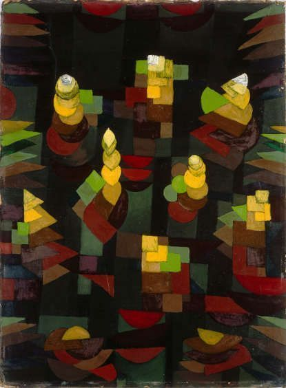 Paul Klee, Pflanzenwachstum, 1921, 193, Ölfarbe auf Grundierung auf Karton, 54 x 40 cm, Centre Pompidou, Paris, Musée national d'art moderne / Centre de création industrielle, Legs de Mme Nina Kandinsky en 1981.