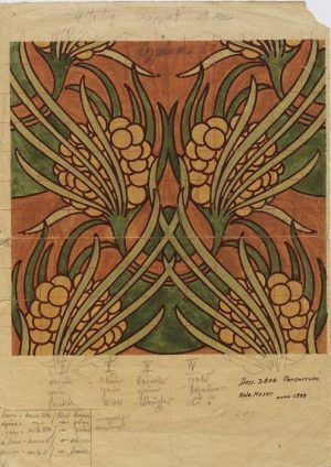 Koloman Moser, Stoffentwurf für Backhauen, 1899, Sammlung der Firma Backhausen © Firma Backhausen Interieur.
