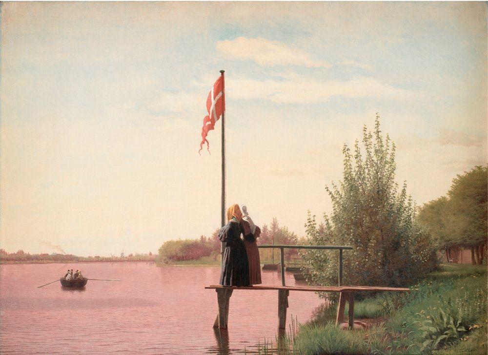 Christen Købke (1810–1848), A Ansicht von Dosseringen am Sortedam See in Richtung Nørrebro außerhalb von Kopenhagen, 1838, Öl auf Leinwand, 53 x 71.5 cm © SMK Foto