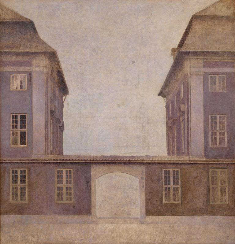 Vilhelm Hammershøi (1864–1916), The Buildings of the Asiatic Company, seen from St. Annæ Street, 1902, Öl auf Leinwand, 146.5 x 140.5 cm © SMK Foto