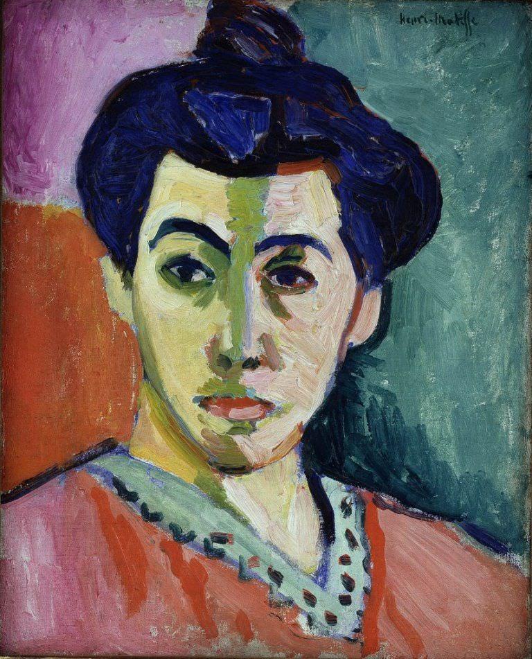 Henri Matisse (1869–1954), Portrait of Madame Matisse. The Green Line, 1905, Öl auf Leinwand, 100.5 x 32.5 cm © SMK Foto