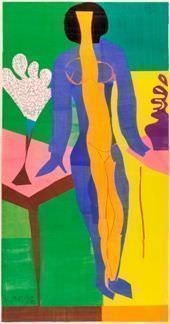 Henri Matisse (1869–1954), Zulma, 1950, Gouache auf Papier, 238 x 133 cm © SMK Foto
