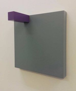Gerwald Rockenschaub, 2009, MDF, Acryllack, 40 × 40 × 20 cm, Courtesy Georg Kargl Fine Arts, Foto: Alexandra Matzner.