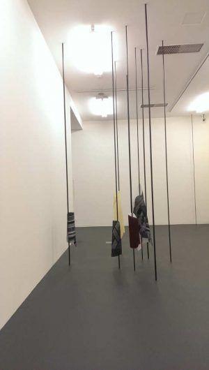 """Sophie Thorsen, Installationsansicht """"Abstrakt / Spazial"""" in Krems 2016, Foto: Alexandra Matzner."""