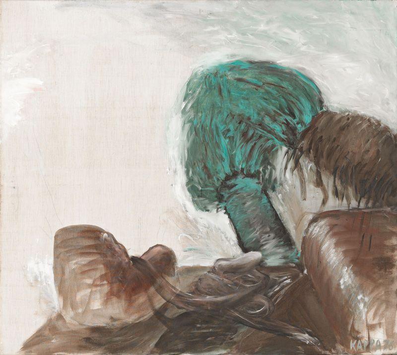 Kurt Kocherscheidt, Ohne Titel, 1976, Tempera auf Leinwand, 125 x 140 cm © Sammlung Essl Privatstiftung, Fotonachweis: Mischa Nawrata, Wien.