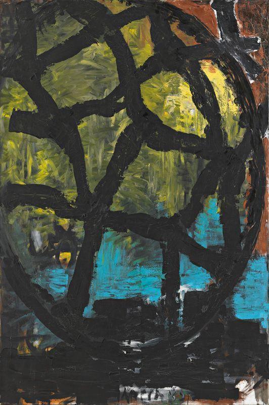 Kurt Kocherscheidt, Waldstudie II, 1985, Öl auf Leinwand, 180 x 120 cm © Sammlung Essl Privatstiftung, Fotonachweis: Mischa Nawrata, Wien.