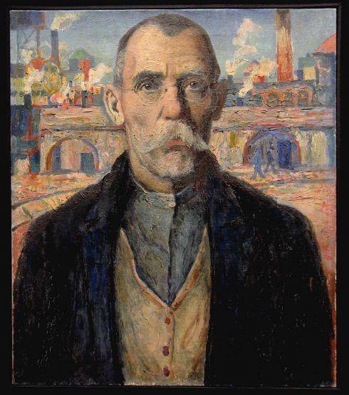 Kasimir Malewitsch, Bildnis eines Stoßarbeiters (Rotbannerträger Scharnowski), 1932, Öl auf Leinwand, 64 x 55 cm (Sankt Petersburg, Staatliches Russisches Museum), Foto: Alexandra Matzner.