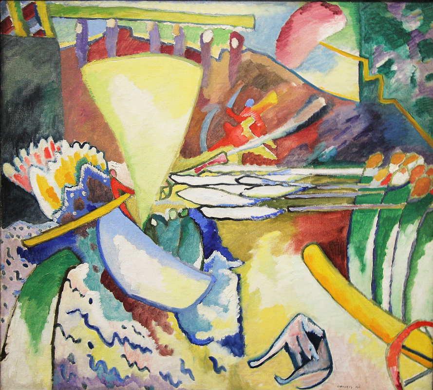 Wassily Kandinsky, Improvisation 11, 1910, Öl auf Leinwand, 97,5 x 106,5 cm (Sankt Petersburg, Staatliches Russisches Museum), Foto: Alexandra Matzner.