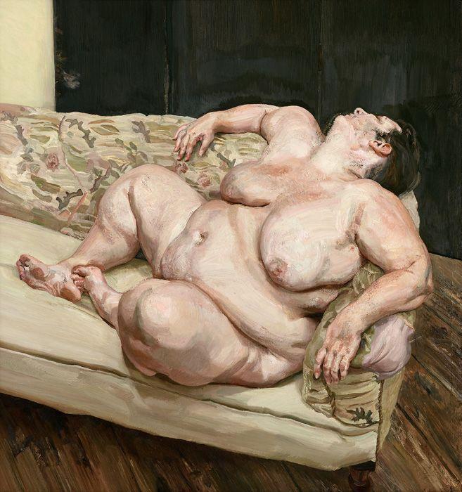 Lucian Freud (1922-2011), Benefits Supervisor Resting, 1994, Öl auf Leinwand, 160 x 150,4 cm, Privatsammlung © The Lucian Freud Archive / The Bridgeman Art Library.