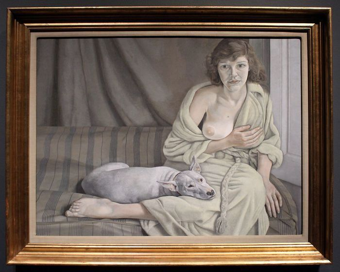 Lucian Freud, Girl with a white Dog, 1950-51, London, Tate © The Lucian Freud Archive / The Bridgeman Art Library.