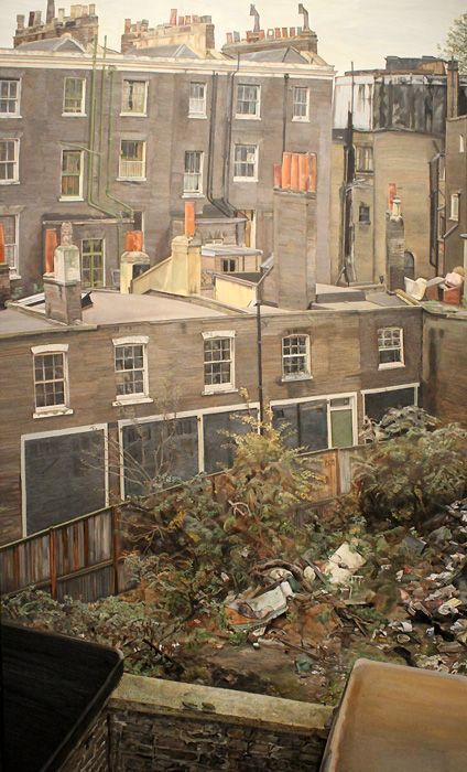 Lucian Freud, Wasteground with Houses, Paddington, 1970-72, Privatsammlung © The Lucian Freud Archive / The Bridgeman Art Library.