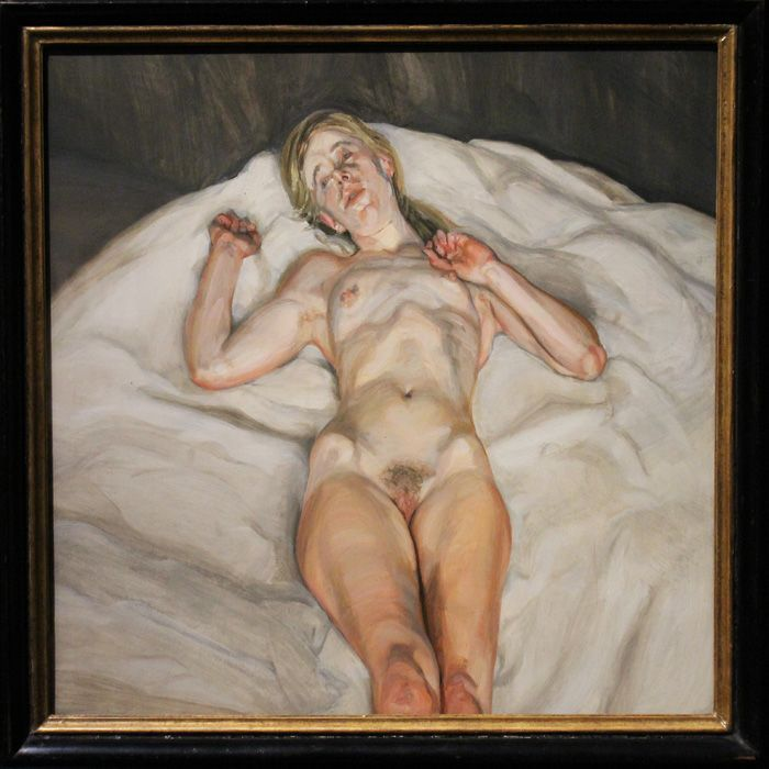 Lucian Freud, Nacked Girl, 1966, Foto: Alexandra Matzner © The Lucian Freud Archive / The Bridgeman Art Library.
