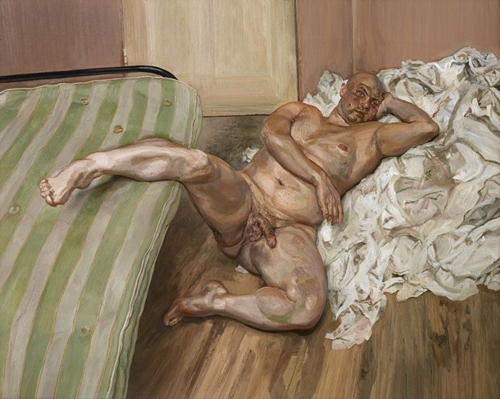 Lucian Freud, Nude with Leg Up, 1992, Öl auf Leinwand, 182,9 x 229 cm, Hirshhorn Museum & Sculpture Garden, Washington D.C. © The Lucian Freud Archive / The Bridgeman Art Library.