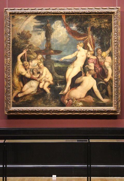 Tizian, Diana und Callisto, KHM Wien, Ausstellungsfoto: Alexandra Matzner.