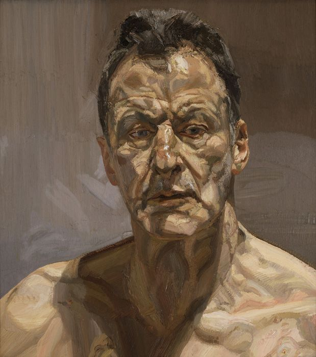 Lucian Freud (1922- 2011), Reflection (Self Portrait), 1985, Öl auf Leinwand, Privatsammlung © The Lucian Freud Archive / The Bridgeman Art Library.