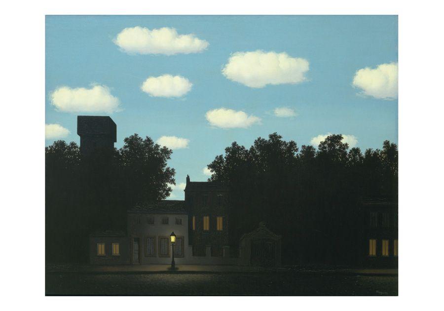 René Magritte, Das Reich der Lichter, 1950, Öl auf Leinwand, New York, The Museum of Modern Art. Gift of D. and J. de Menil © Charly HERSCOVICI Brüssel - 2011.