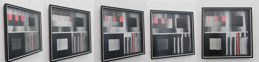 Fotomontage von Bewegungsstudien vor Marc Adrian, Maquette zu K7, 1961, Privatbesitz, Fotos und Montage: Alexandra Matzner.
