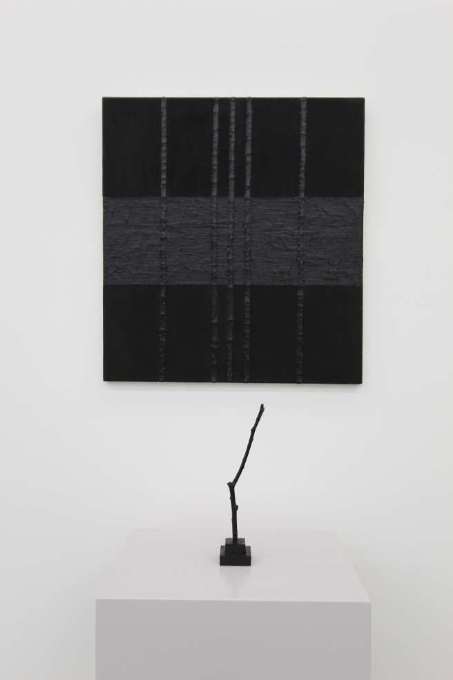 Gerwald Rockenschaub, Öl auf Leinwand, Öl auf Holz, 1982, 70 x 60 cm, 25 c 5 x 5 cm, Sammlung Geyer, Wien, Foto: Alexandra Matzner.