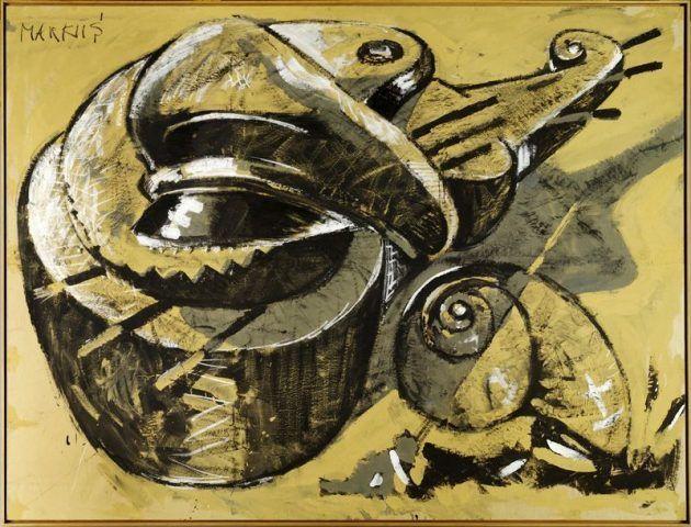 Markus Lüpertz, Ohne Titel, 1973, Gouache auf Packpapier © Markus Lüpertz, Courtesy Galerie Michael Werner Berlin, Köln und New York.