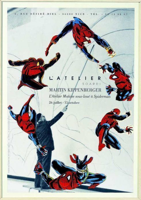 Martin Kippenberger, L'Atelier Matisse sous-loué à Spiderman, Galerie Soardi, Nizza 1996, Estate of Martin Kippenberger, Galerie Gisela Capitain, Cologne © Estate of Martin Kippenberger, Galerie Gisela Capitain, Cologne