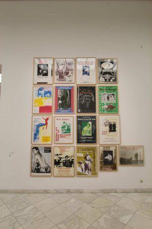 "Martin Kippenberger, Plakate, Ausstellungsansicht Bank Austria Kunstforum ""Martin Kippenberger. XYZ"" © Estate of Martin Kippenberger, Galerie Gisela Capitain, Cologne, Foto: Alexandra Matzner, Wien"
