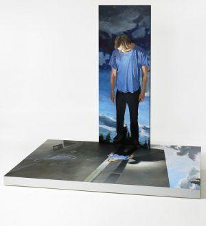 Martin Schnur, Display # 7, driftin'back, 2012, Öl auf Aluminium, 200 x 255 x 250 cm, Foto: Daniela Beranek © Martin Schnur.
