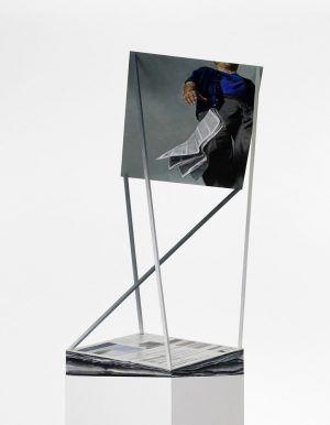 Martin Schnur, Display #6, Detail, 2011, Öl auf Kupfer, Sockel, 237 x 63 x 60 cm, Foto: Daniela Beranek © Martin Schnur.