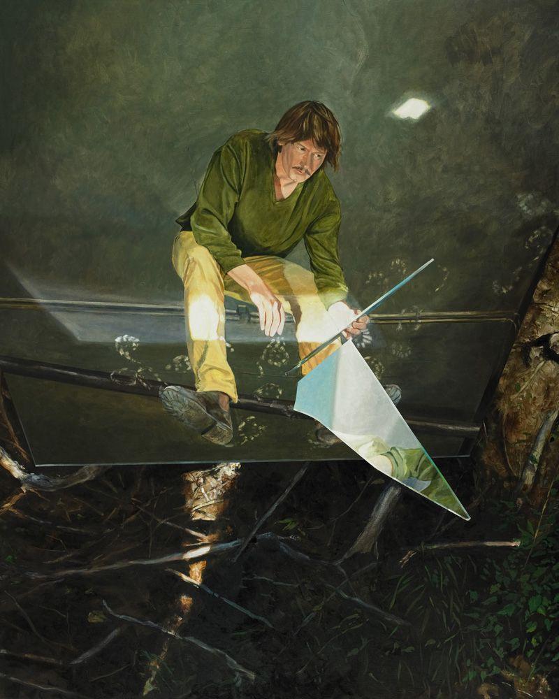 Martin Schnur, Man muss hinschauen, ob noch was nachkommt, 2012, Öl auf Leinwand, 250 x 200 cm, Foto: Daniela Beranek © Martin Schnur.