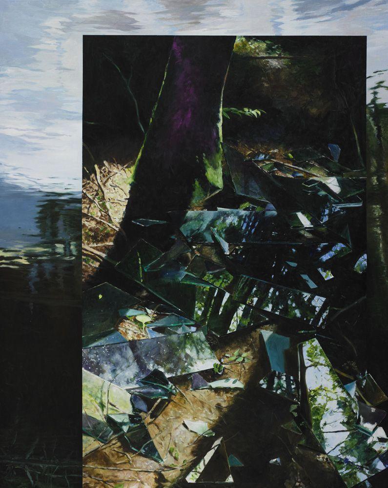 Martin Schnur, Ohne Titel, 2012, Öl auf Leinwand, 175 x 140 cm, Foto: Daniela Beranek © Martin Schnur.