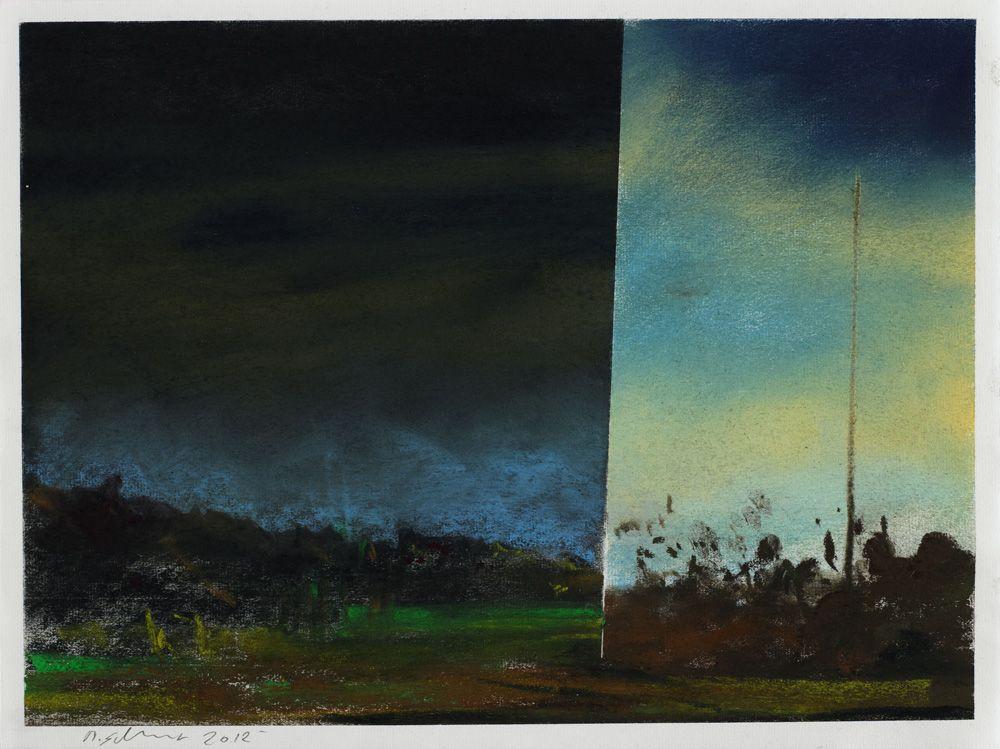 Martin Schnur, Ohne Titel, 2012, Pastell auf Papier, 30 x 40 cm, Foto: Daniela Beranek © Martin Schnur.