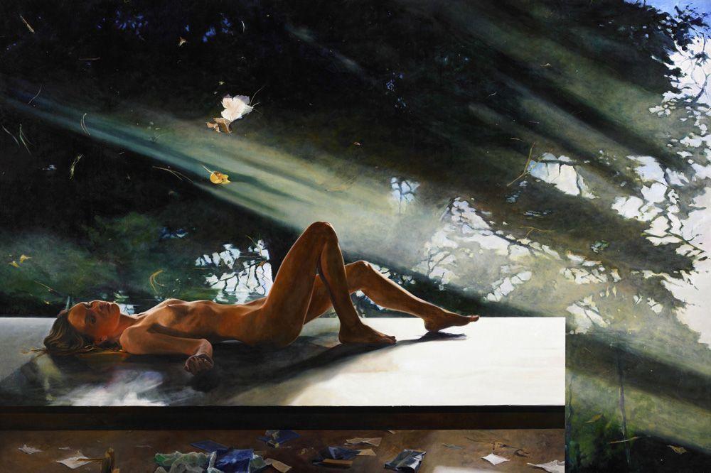 Martin Schnur, Staub, 2007, Öl auf Leinwand,200 x 300 cm, Foto: Daniela Beranek © Martin Schnur.