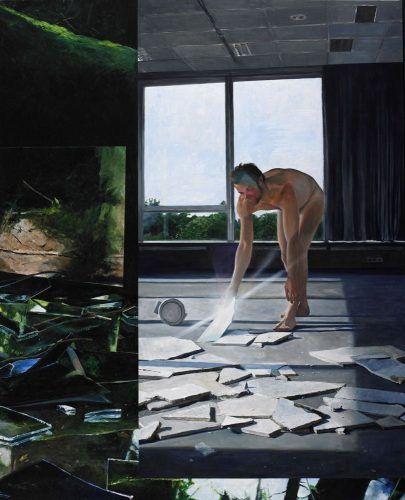 Martin Schnur, Vorspiegelung #1, 2010, Öl auf Leinwand, 235 x 190 cm,Foto: Daniela Beranek © Martin Schnur.