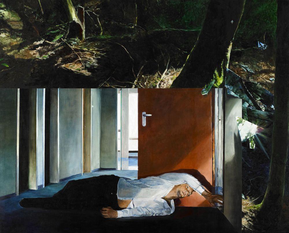 Martin Schnur, Vorspiegelung #3, 2011, Öl auf Leinwand, 190 x 235 cm, Foto: Daniela Beranek © Martin Schnur.