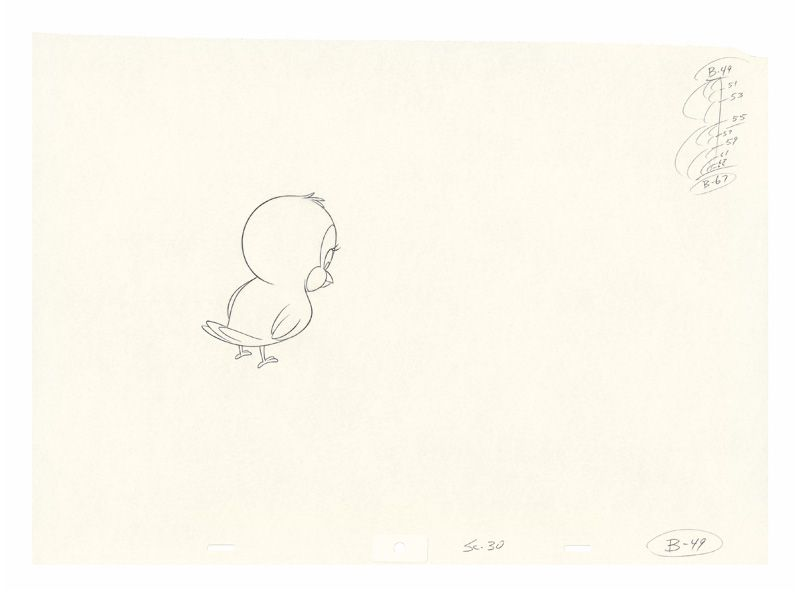 Mathias Poledna, Imitation of Life (Vorzeichnung), 2013, Production drawing, pencil on animation paper, approx. 30.5 x 42 cm, (16.5 x 12 inches), Courtesy of Mathias Poledna.