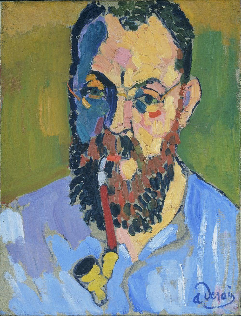 André Derain, Porträt des Henri Matisse, 1905, Tate Purchased 1958 - zu sehen in: Matisse und die Fauves- Albertina (20.09.2013 – 12.01.2014) - zu sehen in: Matisse und die Fauves- Albertina (20.09.2013 – 12.01.2014)