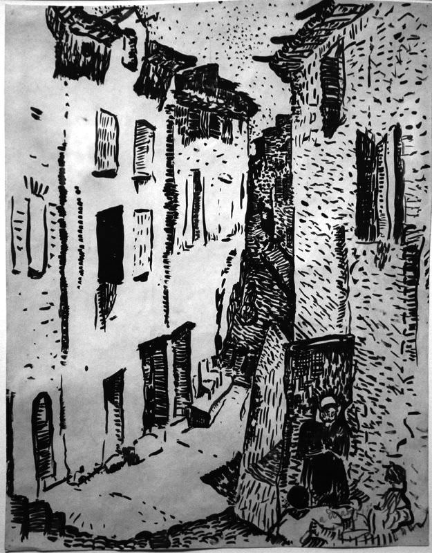 André Derain, Straße in Collioure, 1905 (Privatsammlung), Foto: Alexandra Matzner.