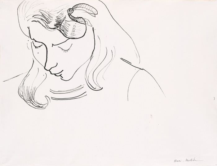 Henri Matisse, Marguerite beim Lesen, ca. 1906, The Museum of Modern Art, New York. Acquired through the Lillie P. Bliss Bequest © 2013. Digital image, The Museum of Modern Art, New York/Scala, Florence © Succession H. Matisse/VBK, Wien 2013.