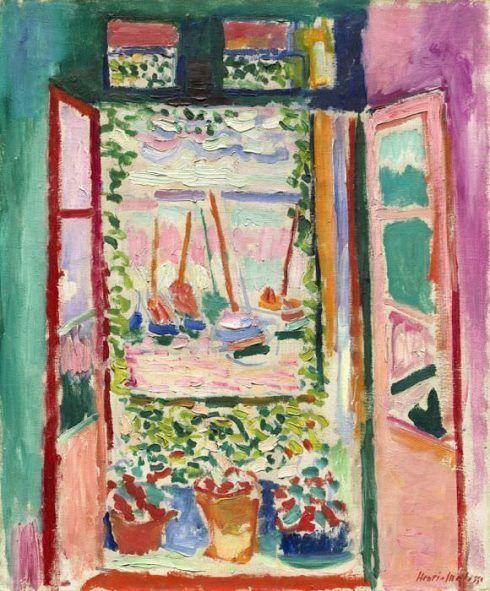 Henri Matisse, Das offene Fenster, 1905, Musée de Peinture et Sculpture, Grenoble, Legs de Agutte-Sembat en 1923 Photographie © Musée de Grenoble © Succession H. Matisse/VBK, Wien 2013.